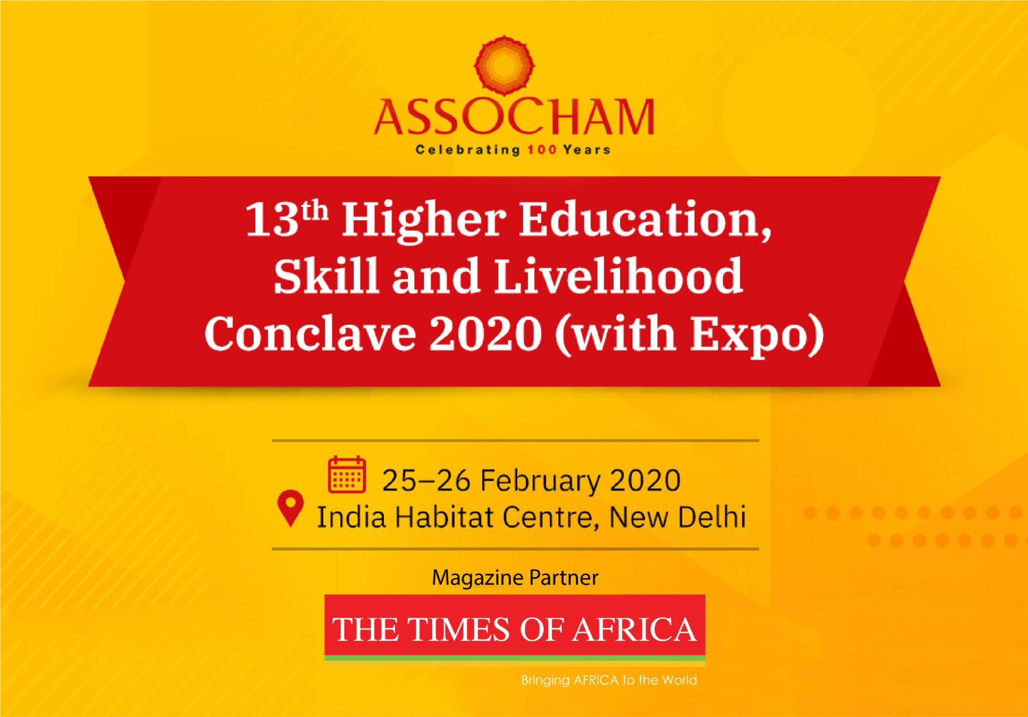 13th Higher Education, Skill and Livelihood Conclave: Future of Higher Education and Skill 2030