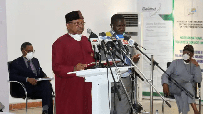 Nigerian Minister of Health Osagie Ehanire