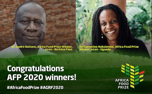 African food prize winner 2020