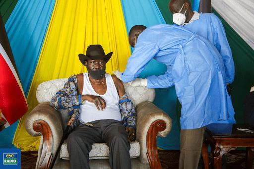 President Salva Kiir jabbed with AstraZeneca vaccine!